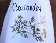 Herb Embellished Tea Towel to Enhance Your Kitchen by NestingInstinctShop@etsy.com $10.00 Buy 2 and shipping is free!