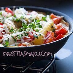 frittata /by kwestiasmaku Frittata, Pasta Salad, Potato Salad, Potatoes, Meat, Chicken, Ethnic Recipes, Yum Yum, Food