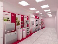 Ambientación Tiendas LG on Behance Display Design, Store Design, Electrical Shop, Showroom Interior Design, Electronic Shop, Store Layout, Shop Interiors, Retail Design, Locker Storage
