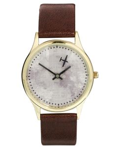How freaking cute is this with the airplane?  ASOS Watch with Map Print and airplane second hand.