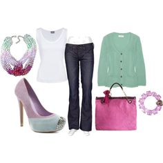 Love the bag and the shoes pretty colors