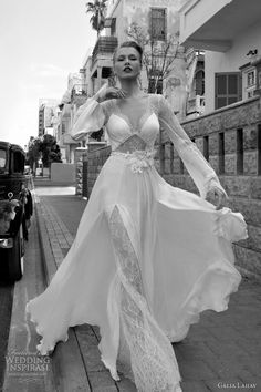 galia lahav bridal 2012 Long sleeve V-neck gown with lace accents on the  sleeves 9379abaaa