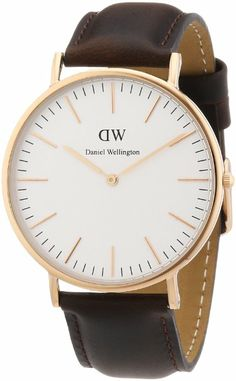 Daniel Wellington Bristol Rose Men's Quartz Watch with White Dial Analogue Display and Brown Leather Strap 0109DW £149.79