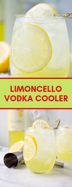 Sweet Limoncello, a hit of vodka and lots of ice make this the perfect summer cooler for those hot summer days and nights. Limoncello Cocktails, Vodka Cocktails, Summer Cocktails, Cocktail Drinks, Cocktail Recipes, Alcoholic Drinks, Limoncello Vodka Recipe, Drinks With Lemoncello, Rum Punch Recipes