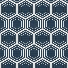 honeycomb (navy) fabric by thebline for sale on Spoonflower - custom fabric, wallpaper and wall decals