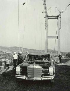 Fahri Korutürk, köprü çalışmalarını denetliyor-1973