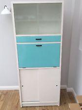 Vintage Retro Kitchen Cabinet Larder 1950s Vintage Kitchen Cabinets, Vintage Dressers, Larder, Kitchen Units, Kitchenware, Cupboard, Home Kitchens, Kitchen Remodel, Locker Storage