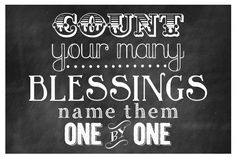 Free printable - Count your blessings.