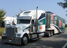 LIKE Progressive Truck Driving School: www.facebook.com/... #trucking #truck #driver Nascar haulers Nascar Trucks, Big Rig Trucks, Nascar Racing, Semi Trucks, Cool Trucks, Drag Racing, Train Truck, Road Train, Racing Baby