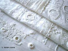 Contemporary embroidery by British textile designer & embroiderer Karen Ruane. via the artist's site