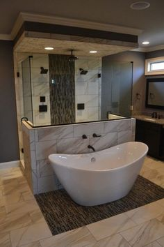 Well, there's no better time to give your small bathroom a fresh look. Small bathroom design is finally stepping out of the cookie… Continue Reading → Luxury Master Bathrooms, Dream Bathrooms, Beautiful Bathrooms, Small Bathrooms, Master Baths, Luxurious Bathrooms, Style At Home, Home Renovation, Home Remodeling