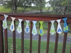 Using Tyson's name - so cute!  Little Man Baby Shower Tie Name Banner by DKDeleKtables on Etsy, $15.00