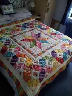 Scrap Happy Star Quilt -- What a cheery quilt to wake up to!