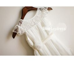 White Lace High Cap Sleeves Ball Gown Short Prom by loveetsydress, $48.00