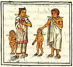 A family of slaves, [Aztec] Florentine Codex