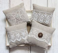 2 x Assorted Lace Lavender Bags
