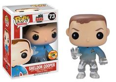 Funko POP Television Sheldon Star Trek Blue Shirt Vinyl Figure (SDCC Exclusive) @ niftywarehouse.com