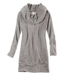 Grey sweater, great with leggings and boots