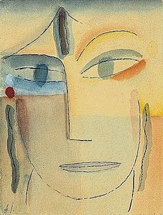 Jawlensky- Head with Open Eyes, 1922-1924  http://www.writedesignonline.com/history-culture/Jawlensky/overview.htm