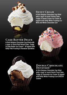 ice cream cupcakes! interesting.. but logistically it will be tricky how to display them..