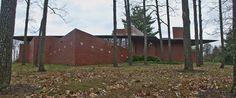 The Kraus House, AKA FLW's House in Ebsworth Park,1960. Kirkwood, Missouri. Usonian