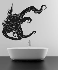 Vinyl Wall Decal Sticker Tentacles Through Wall #OS_MB269 | Stickerbrand wall art decals, wall graphics and wall murals.