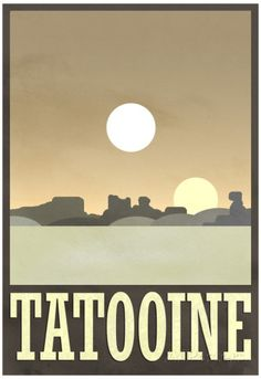 Tatooine Travel Poster Plakater hos AllPosters.no
