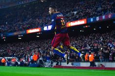 Neymar Photos - Neymar of FC Barcelona celebrates after scoring his team's sixth goal during the La Liga match between FC Barcelona and Celta Vigo at Camp Nou on February 2016 in Barcelona, Spain. - FC Barcelona v Celta Vigo - La Liga Fc Barcelona, Neymar Jr, David Ramos, Camp Nou, Goals, Celebrities, February 14, Sports, Instagram Posts
