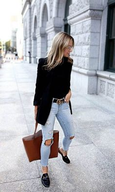 Look Blazer + Bolsa Shopping Winter Outfits, Casual Outfits, Cute Outfits, Fashion Outfits, Womens Fashion, Work Outfits, Fashion Ideas, Fashion Clothes, Ladies Fashion