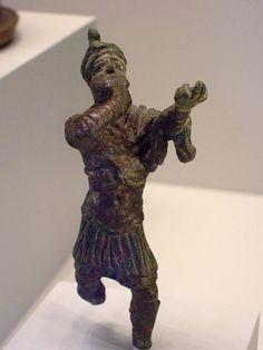 Statuette of a Bugler, Roman 1-200 CE Bronze |