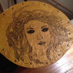 Detail of Athena's shield (aegis,) featuring the head of Medusa. Medusa, To My Daughter, Art Pieces, Detail, Jellyfish, Artworks
