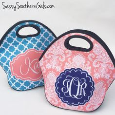 New to SassySouthernGals on Etsy: Monogrammed Lunchbox Lunch Bag for Women Monogrammed Lunch Bags Monogrammed Lunch Tote Personalized Lunch Tote Monogrammed Gift (36.00 USD)