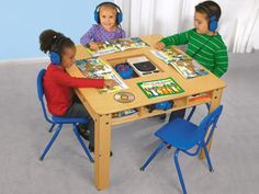 Lakeshore Listening Center Table - I have two of these!  They seat eight first graders each.  One table is used as a listening center while the other is used to house my V-Tech V-Readers.