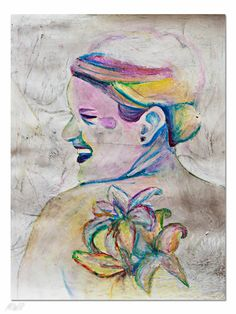 Custom oil pastel portrait examples by VelmasTwin on Etsy, $50.00