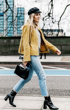 See which ankle boot styles look so good with skinny jeans right now, because yes, you always need more reasons to keep the denim.