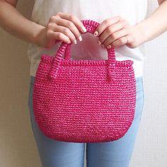 Crochet Bags, Knitted Bags, Easy Crochet, Straw Bag, Knitting, Pattern, Recipes, Fashion, Bags
