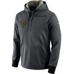 Nike Men's Atlanta Falcons Salute to Service 2016 Anthracite Pullover Hoodie