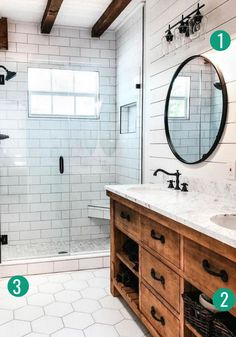 Modern Farmhouse, Rustic Modern, Classic, light and airy master bathroom design ideas. Bathroom makeover some ideas and master bathroom renovation tips. Bad Inspiration, Bathroom Inspiration, Bathroom Ideas, Bathroom Organization, Budget Bathroom, Bathroom Designs, Shower Ideas, Bathroom Storage, Rental Bathroom