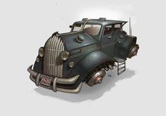 Hover Car Design Picture (2d, sci-fi, steampunk, car)