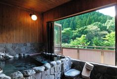 NEW Eight rooms that come with open-air hot spring baths. Gunma, Bath Ideas, Hot Springs, Baths, Rooms, Japanese, Adventure, Natural, House