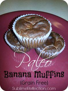 Paleo Banana Muffins {Grain Free}