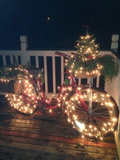 My 'Garden' bike...all decorated for Christmas!! I ❤️ it...soooo much!!