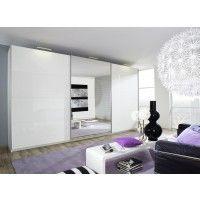 Luxury Schwebet renschrank BELUGA in Wei Hochglanz mit Spiegel Kleiderschrank mit T ren davon Spiegelt r f r Ihr Schlafzimmer ujetzt bei M bel Aku u