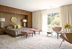 Image result for mid century modern window treatments
