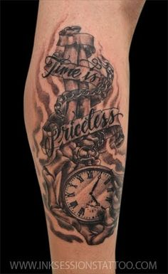 Ink Sessions Tattoo: Pocket Watch Tattoo.