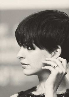 Anne Hathaway the 60s pixie cut. Just need to talk hubby into letting me do this.