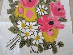 Vintage Vera Tea Towel $24 #etsy #midcentury