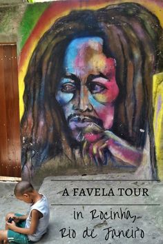 Colourful graffiti in Rocinha on our Rio Favela Tour.  Taking a tour of a favela in Rio de Janeiro in Brazil was an interesting and thought-provoking activity.  Can 'People Tourism' be ethical, or is it just voyeuristic?