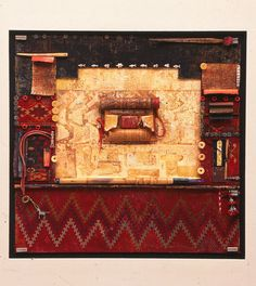 sweetpeapath:KCIN Cloth Series #2 by Joanne Williams mixed media & objects collage
