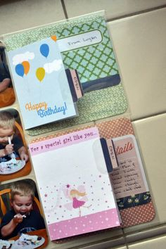 Add your birthday cards to your birthday layout so it's in one place. #wermemorykeepers #albumsmadeeasy #scrapbooking
